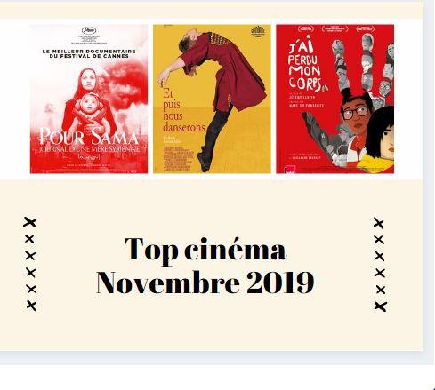 Top ciné mois Novembre